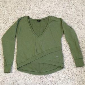 Splits59 faux wrap sweatshirt (olive)